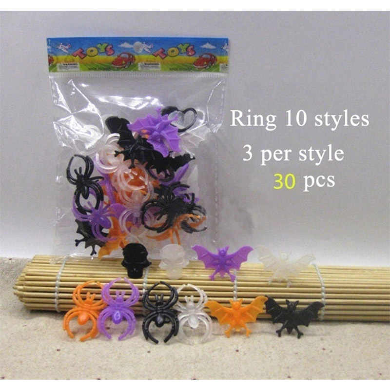 30pcs/lot Finger Rings Halloween Party Costume Party Favors Gifts Party Supplies As Personalized Gift To The Guests At The Party