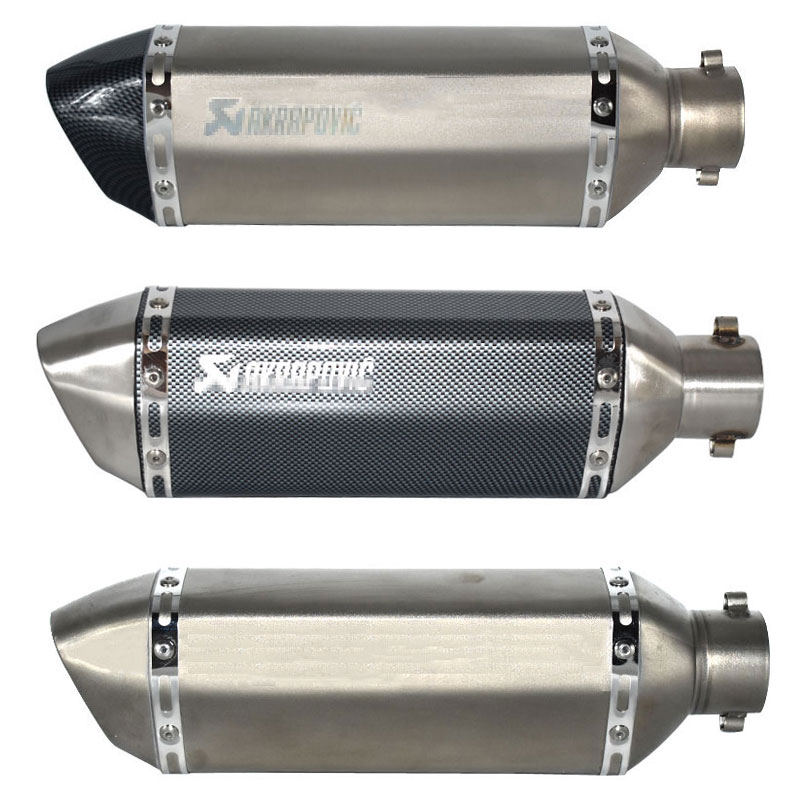 Image 4 - Universal akrapovic exhaust motorcycle muffler escape moto with db killer Exhaust Systems for honda benelli msx125 nmax155-in Exhaust & Exhaust Systems from Automobiles & Motorcycles