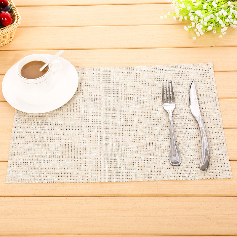 PVC Insulation Placemat <font><b>Coffee</b></font> Cup Mat Coaster Round Cup Pad <font><b>Cafe</b></font> <font><b>Table</b></font> Decor UK image