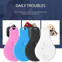 Mini animal de estimação dispositivo anti-perdido gps localizador rastreador colar para cão gato drop-shaped bluetooth rastreamento remoto desconexão registro inteligente(China)