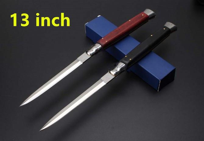 Мафия 13 дюймов красная черная деревянная ручка Itau карманный нож вспомогательный Складной Охотничий Тактический нож для выживания s подарочные ножи|Ножи|   | АлиЭкспресс