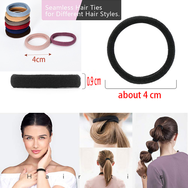 10/50/100 Pcs/Set Women Girls Sweet Colors Soft Elastic Hair Band Lady Solid Scrunchies Rubber Bands Female Hair Accessories 3