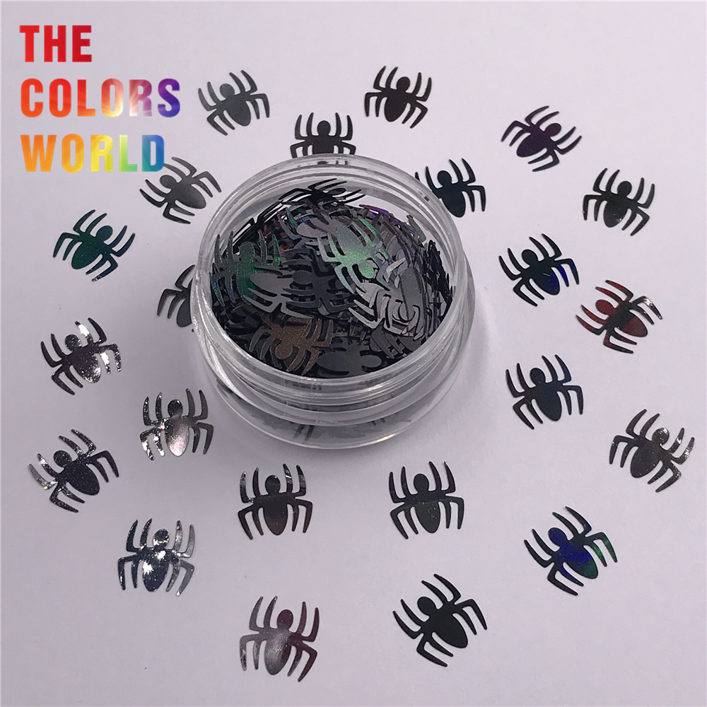 US $9 87 Spider 10MM Big Size Halloween s Glitter Halloween Decoration Makeup Crafts Tumbler DIY Accessories Festival Party Supplier Nail Glitter