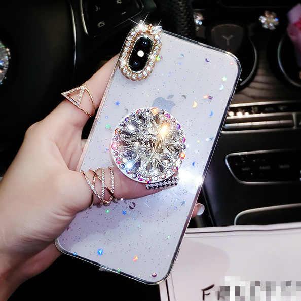 Nowe diamentowe etui dla iphone'a x XR XS Max 6 6S 7 8 Plus 11 Pro Max dla Samsung Galaxy S8 S9 S10 Plus uwaga 8 9 10 Pro etui na telefon