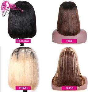 Image 2 - Düz Bob dantel ön peruk s ön koparıp Hairline güzellik sonsuza kadar kısa insan saçı peruk brezilyalı düz dantel ön peruk Remy peruk