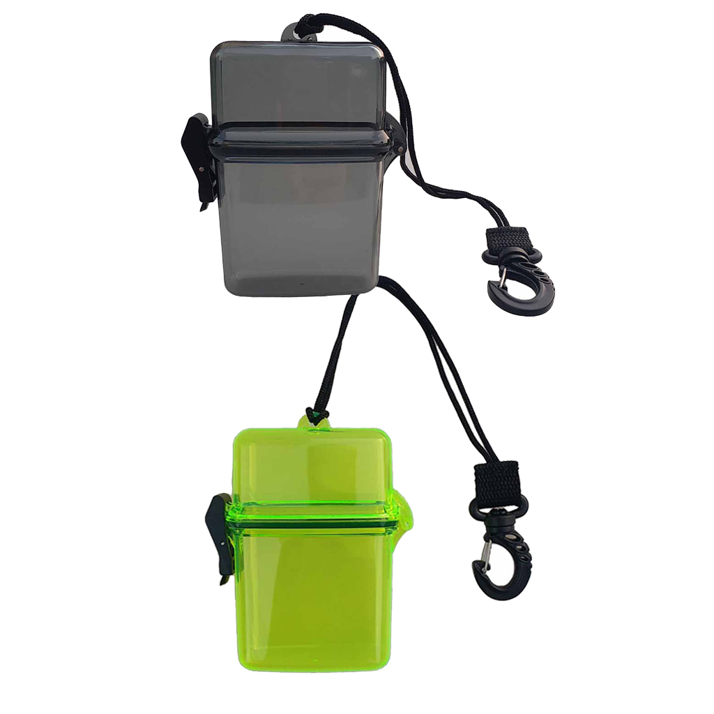2Pcs Surf Scuba Diving Waterproof Dry Box Case For Money ID Cards License Keys For Water Sports