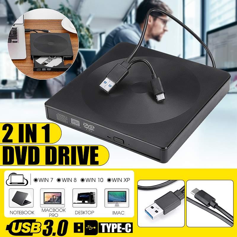USB 3.0 / Type-C Slim External DVD RW CD Writer Drive Burner Reader Player Optical Drives For PC Laptop