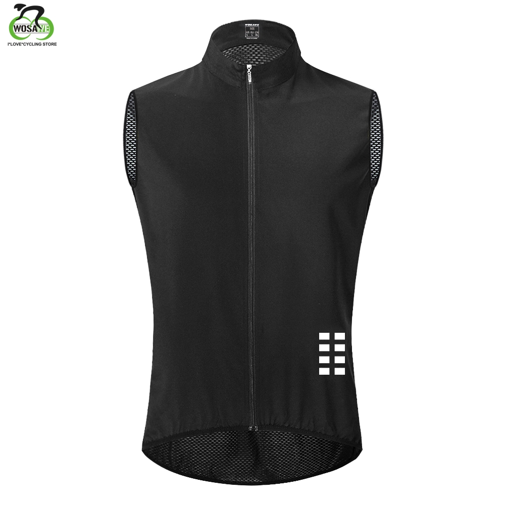 WOSAWE Cycling Vest Keep Dry And Warm Mesh Ciclismo Sleeveless Bike Bicycle Undershirt Jersey Winter Cycling Clothing Gilet