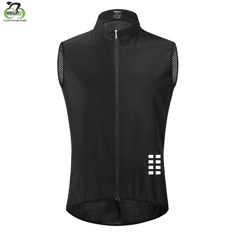 Вело-жилет WOSAWE, сохраняющая сухость и тепло, сетчатый, без рукавов, велосипедное нижнее белье, Джерси, ветрозащитная одежда для велоспорта, ж...