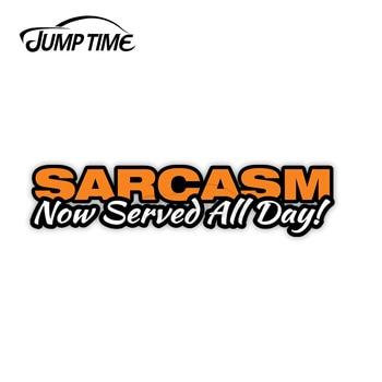 Pegatina de sarcasmo para coche 13cm x 3cm, calcomanías de advertencia para...