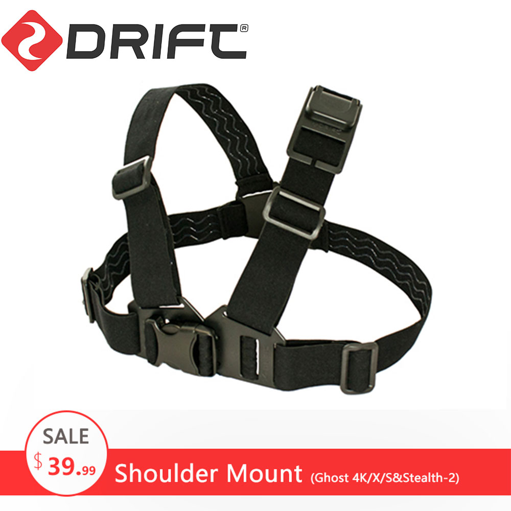 Drift Action Sports Camera Accessories Shoulder Mount Chest Mount Harness Chesty Strap for Ghost 4K/X/S and Stealth 2|chest mount harness|action camera chest strap|drift action camera - title=