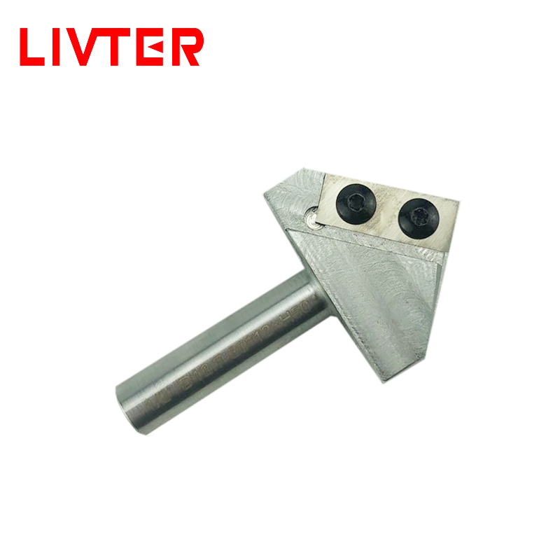 LIVTER Carbide Tipped V-Groove <font><b>90</b></font> Deg x 1/2 Shank replaceable blades 0.5inch freeshipping image