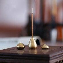 1 unidad de latón de calidad soporte quemador de incienso para incienso palo de incienso bobina botella calabaza en forma de incienso de cobre
