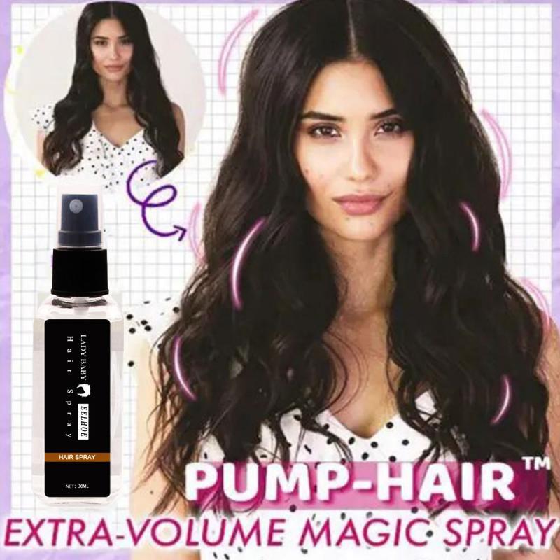 30 мл насос-волосы Экстра-объем мощный спрей лак для волос спрей для укладки волос сильные волосы Гели для укладки волос содержит плотные вол...