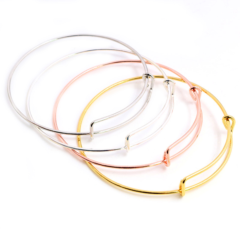 High Quality 10pcs 70mm Diameter 4 Colors Plated Wrist Jewelry Bracelet Charm Bracelets & Bangles Jewelry Findings Components