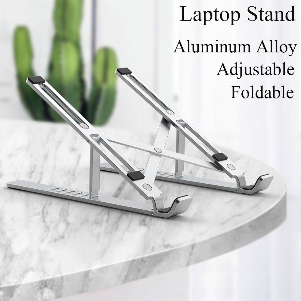WIWU Support d'ordinateur portable Support de tablette réglable pour 10-17 pouces tablettes Support ordinateur portable en alliage d'aluminium Support pliable pour MacBook