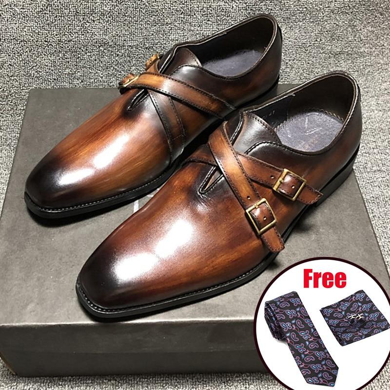 Men Leather Shoes Business Dress Suit Shoes Men Brand Bullock Genuine Leather Black Laces Wedding Mens Shoes Phenkang