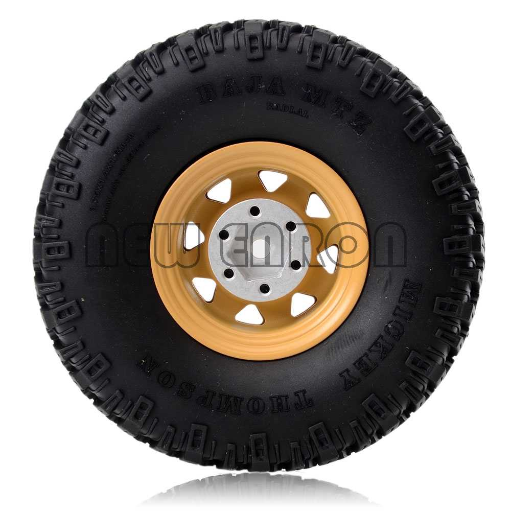 "1.55/"" Alloy Beadlock Wheel Rims /& Tires Tyre 96MM For RC 1//10 1:10 JIMNY Axial"