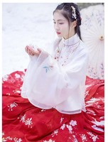 Hanfu Women Chinese Ancient Traditional Hanfu White&Red Fantasia Women Carnival Cosplay Costume Fancy Dress For Lady Plus Size