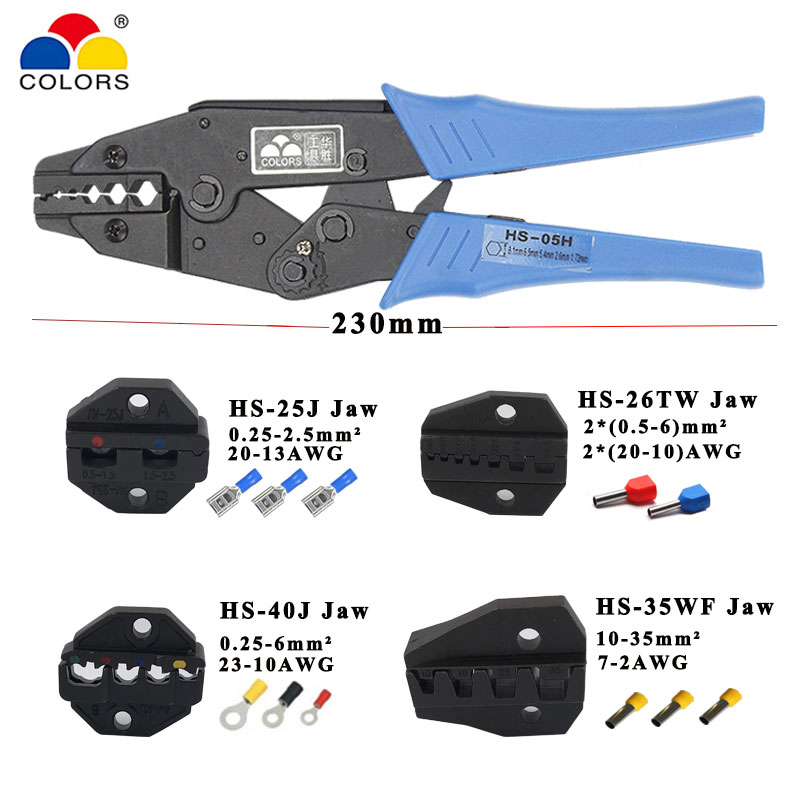Crimping Pliers Jaw For 230mm Pliers Flag Types Female Insulation Terminal HS-25J HS-26TW HS-40J HS-35WF High Hardness Jaw Tools