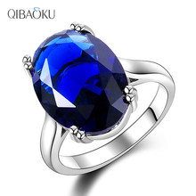 Women's Ring 925 Silver Ring AAAAA Sapphire Ruby Zircon Big Red Zircon Simple Ring Wedding Jewelry Party Wedding Valentine's Day