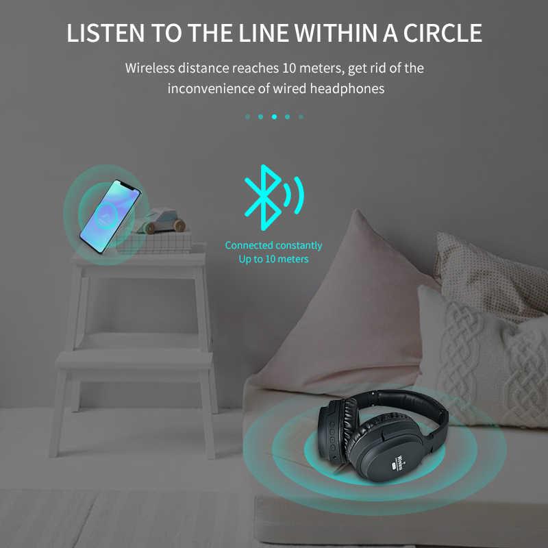 무선 헤드셋 블루투스 5.0 접이식 헤드셋 (마이크 포함) 슈퍼 HiFi 서브 우퍼 헤드셋 TF / FM 무선 블루투스 지원