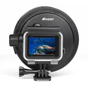 Image 5 - SHOOT pour GoPro Hero 7 6 5 accessoires boîtier étanche avec lentille de filtre rouge couvercle de boîtier sous marin pour Go Pro Hero 7 6 5 noir