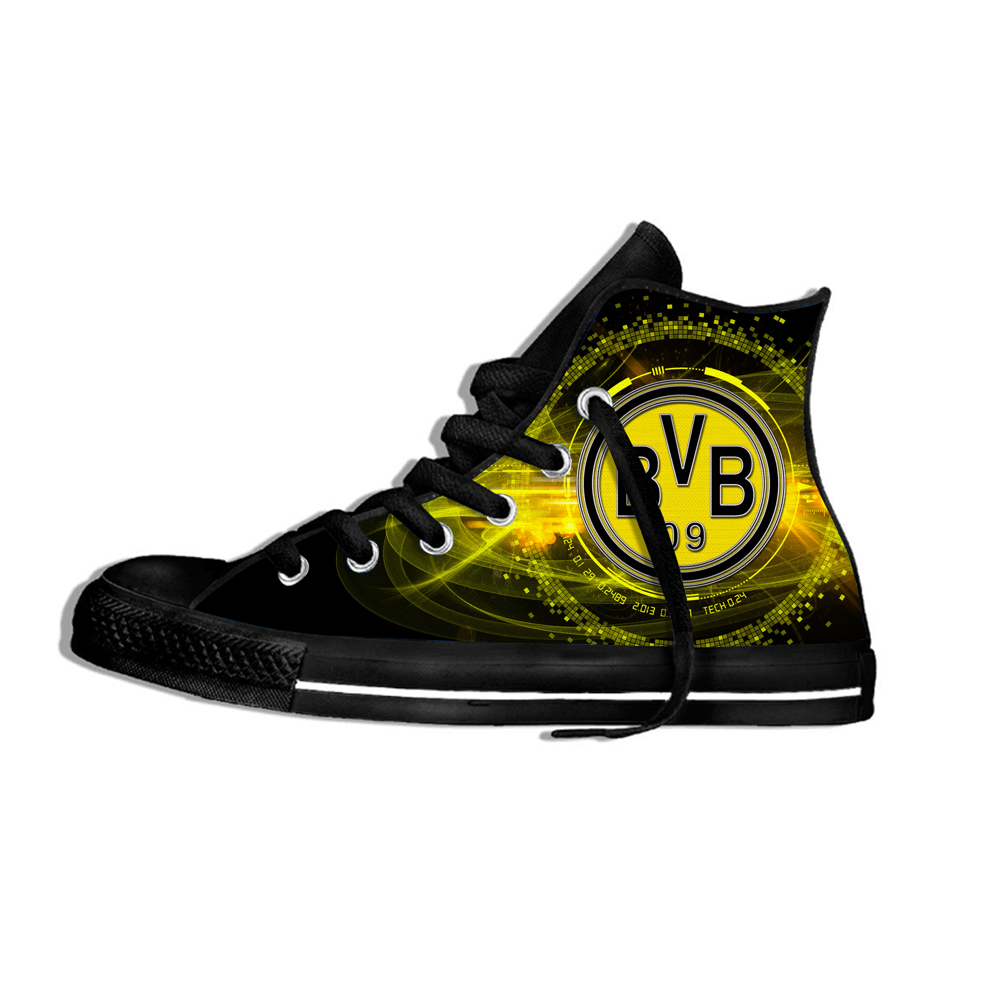 Dortmund Lightweight Soccer Borussia FC Fans Men's/women's Fashion Shoes  Club Breathable High Top Casual Sneakers