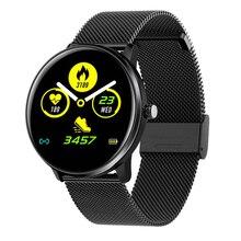 MX6 Smart Watch Men Women Blood Pressure Heart Rate Monitor IP68 Waterproof Sport Watch Black wireless heart rate monitor sport watch black