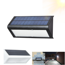 Luz LED Solar con Sensor de movimiento, 4 modos de iluminación exterior para jardín, lámparas solares 48LED, lámpara alimentada por energía Solar impermeable para pared
