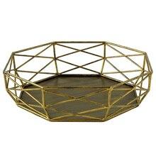 Bandeja de forma geométrica Sweetgo, herramientas de pastel Vintage para postre, mesa hueca, soporte de decoración de cesta de pastel