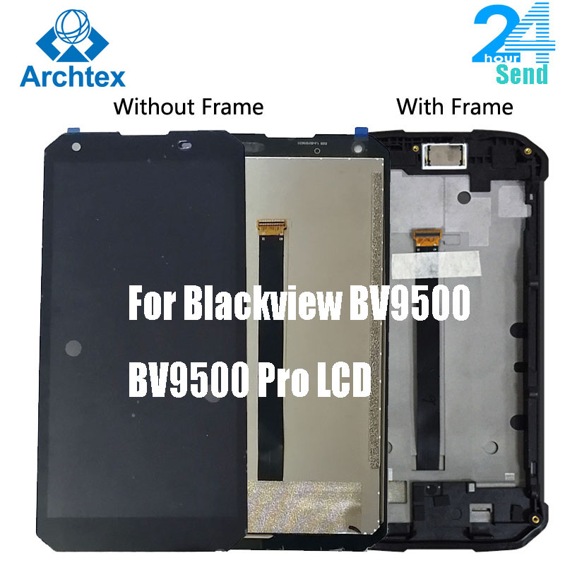For Original Blackview BV9500 Pro LCD  And Touch Screen 5.7'' With Frame +Tools Assembly For Blackview BV9500 Phone Display