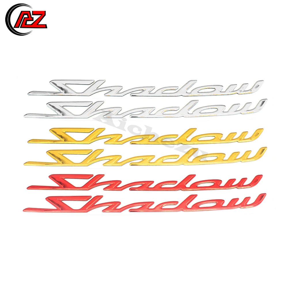 3D Gas Tank Pad Decal Stickers Moto Protector Decals Emblem Badge For Honda Shadow Spirit Sabre Aero ACE 1100 VT1100C VT500C 750 Gold