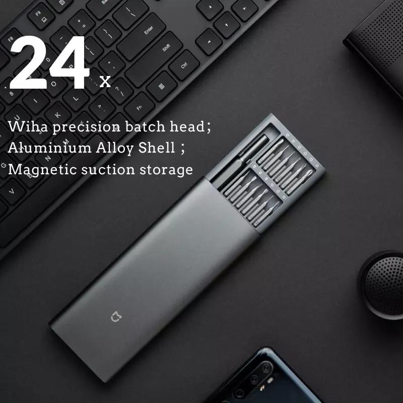 Screw Bits Driver Driver Magnetic Alluminum Screw Kit Original Box 24 Mi Smart DIY Mijia Daily Precision Use Home Smart Wiha