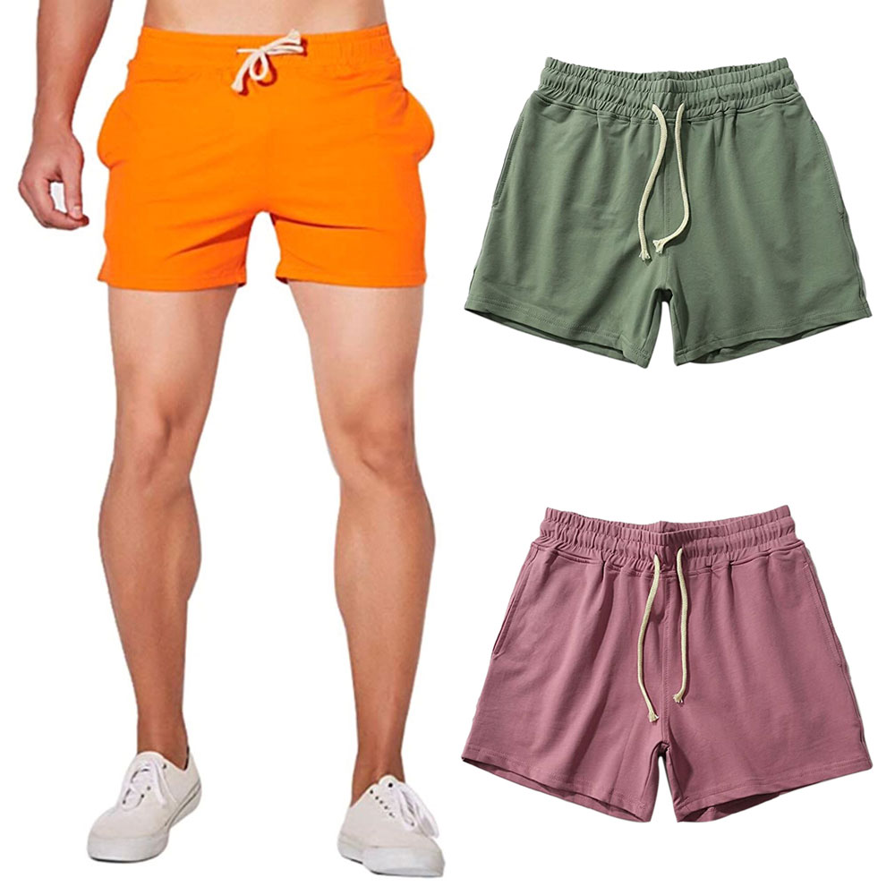 2020 Summer Men's Fashion Jogger Sweat Shorts Undershirt Casual Solid Color Gym Running Workout Athletic Pants Male Shorts Casual Shorts  - AliExpress