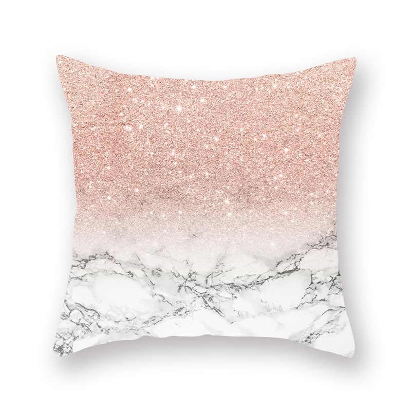 ポリエステル繊維ローズゴールド幾何枕カバーソファクッション装飾枕