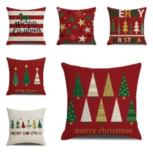 Merry Christmas Day Cushion Covers Square Santa Claus Pillow Cases Home Decorative Sofa Throw Pillows Covers cartoon christmas decorative cushion covers