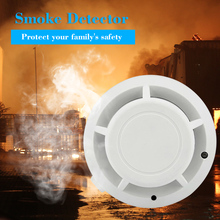 System alarmowy do domu niezależny czujnik przeciwpożarowy wrażliwy detektor dymu detektor ognia dymu dla inteligentnego domu tanie tanio OWSOO