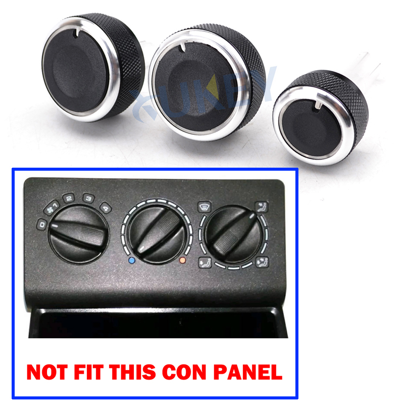 cheapest For SEAT Leon MK1 Toledo MK2 1M Heater Climate Control Panel Switch Knob Knobs Buttons Dials Ring Accessories