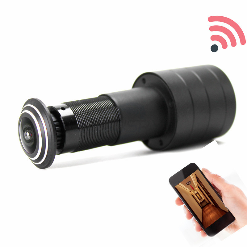 Geniuspy Home Security 1080P Wifi Door Eye Hole Mini Peephole IP P2P Motion Detection Video V380 Camera With Micro TF Card Slot
