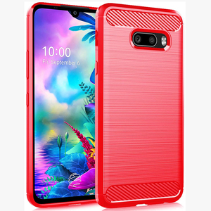 Soft TPU Phone Case For LG G8X,LG V50S Shockproof Silicone Rugged Bumper Carbon Cover Case LG V50S Thinq,LG G8X Thinq