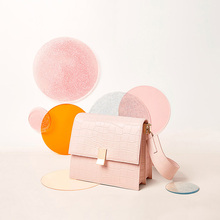 CARRYO Color Revolution Handbag Genuine Leather Pink Bags For Women 2019 Crocodile Pattern Shoulder Crossboby Bag bolsa