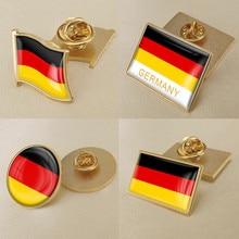 Герб Германии карта Национальный флаг Эмблема с национальным цветочным брошь значки нагрудные знаки
