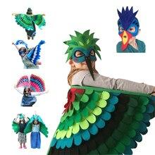 Костюм совы, птицы, крыла с маской, для мальчиков, на Хэллоуин, для девочек, нарядный костюм животного, для сна, для малышей, новые подарки для детей
