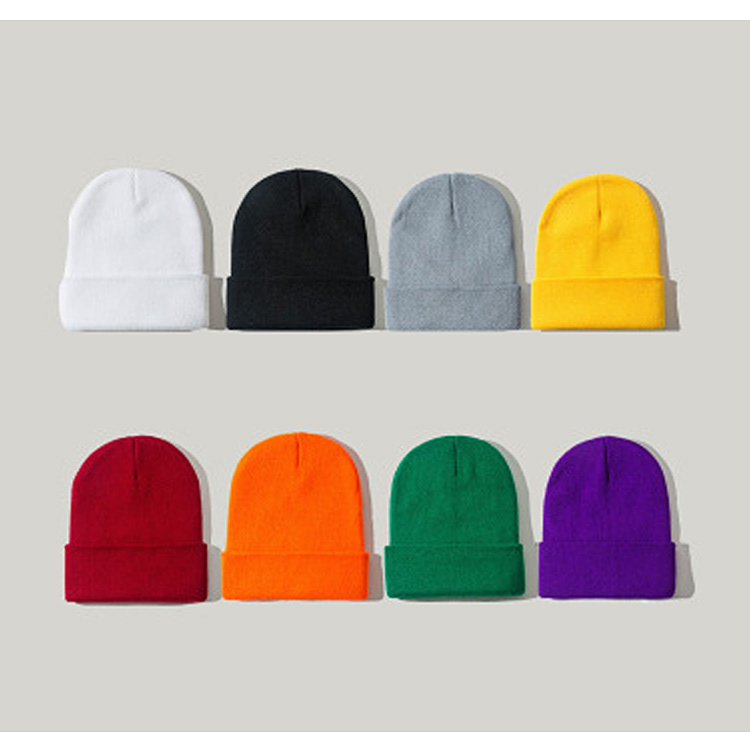 Knitted Hats For Women Skullcap Men Beanie Hat Winter Retro Brimless Baggy Melon Cap Cuff Docker Fisherman Beanies Hats For Men
