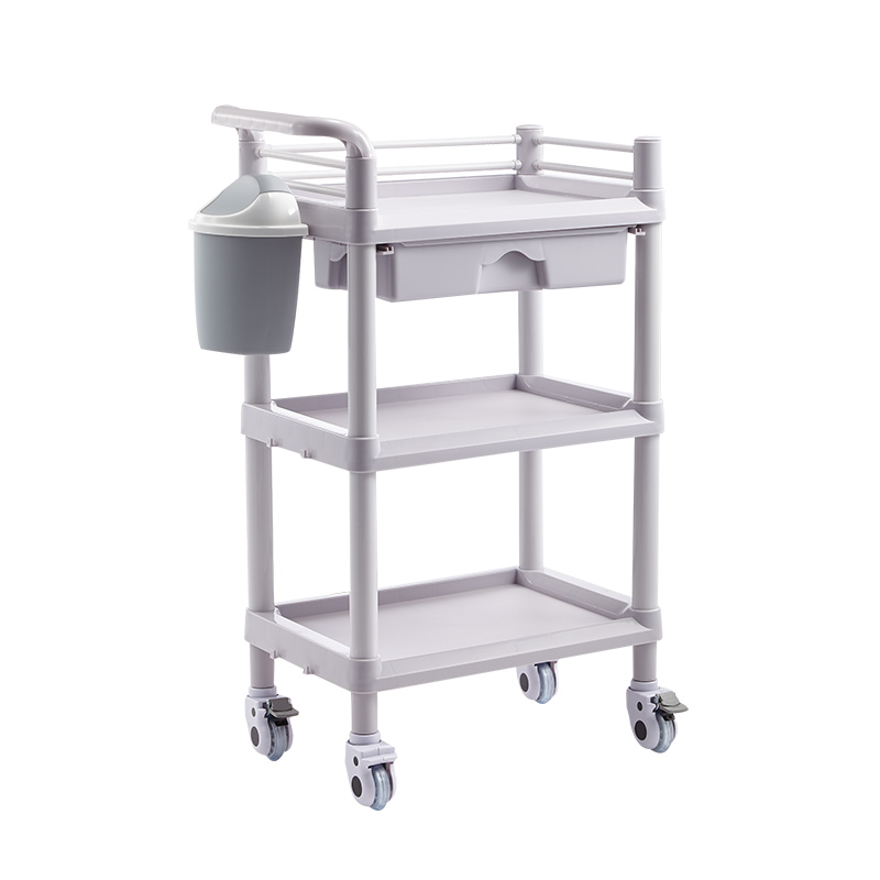 Japanese Cosmetology Car  Special Hand Push Tool  Tinder  Instrument Treatment  Trolley Shelf