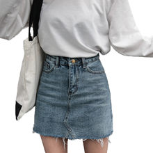 Hzirip Summer Fashion High Waist Skirts Womens Pockets Button Denim Skirt Female Saias 2018 New All-matched Casual Jeans Skirt