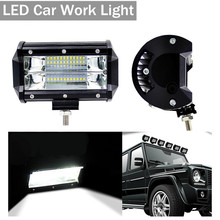 72W 4INCH 20LED Waterproof Car Work Light LED Light Bars Spot Flood Beam for Work Driving Offroad Boat Car Tractor Truck 12V 24V