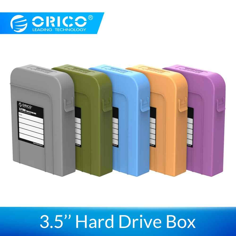 Orico 3.5 Inch HDD Protection Box Kasus Hard Drive Bag Portable Case HDD Eksternal HDD SSD Power Bank Case kotak Penyimpanan 3.5""