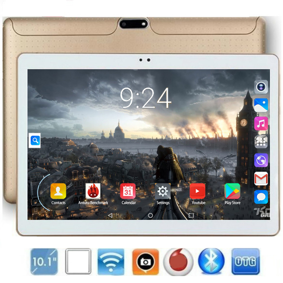 2020 Super Tablet 6GB RAM 128GB ROM Newest 10.1 Inch Tablet PC Android 8.0 Octa Core  5.0MP Camera 4G FDD LTE Phablet 10 10.1
